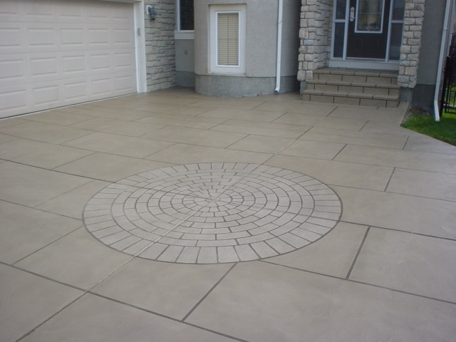 Hardscapes Inc. Concrete Driveway And Walk.
