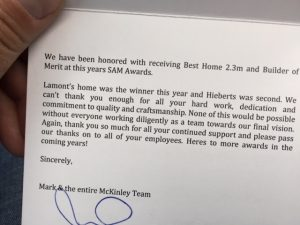 SAM Awards testimonial