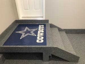 Hardscapes Inc. Custom Garage Floor Logo